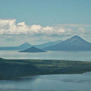 Beautiful lake and volcanoes. Managua, Nicaragua.