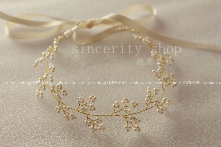 2015 новый S925 позолоченного серебра популярные свадебные цветы переплетения гирлянды ручной свадьба повязка на голову аксессуары для волос подарок на день рождения купить на AliExpress
