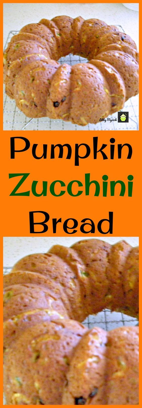 Pumpkin Zucchini Bread, An easy recipe with fabulous aromas and great tasting. Freezer friendly and a perfect way to enjoy zucchini!   Lovefoodies.com