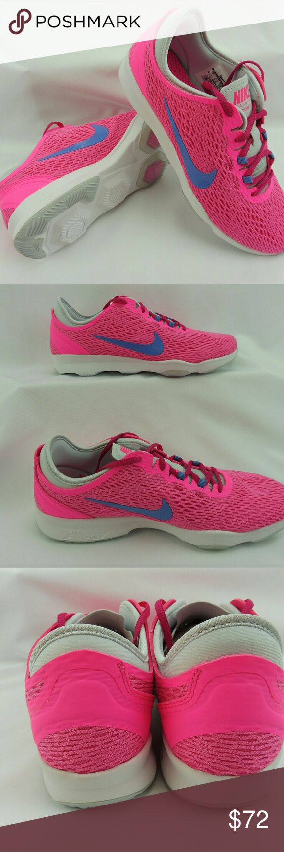 Nike, NWT, WMNS NIKE ZOOM FIT, PINK Nike, NWT, WMNS NIKE ZOOM FIT, PINK, New new in box, never used, comfortable and great looking Nike Shoes Sneakers