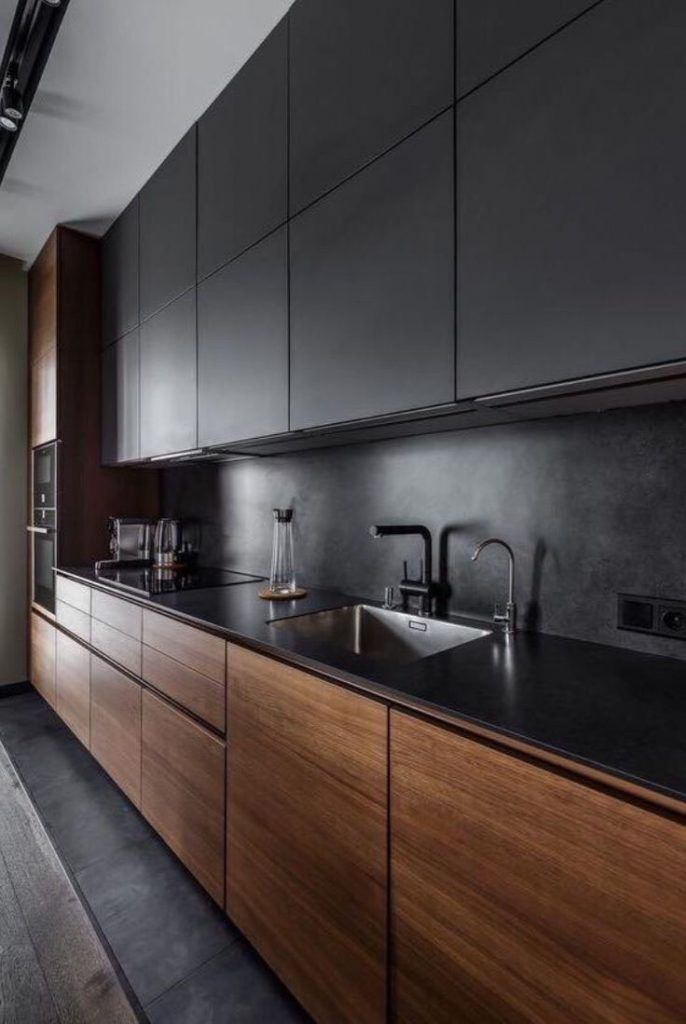 10 Black Kitchen Area Closet Concepts For Stylish Chefs Modern