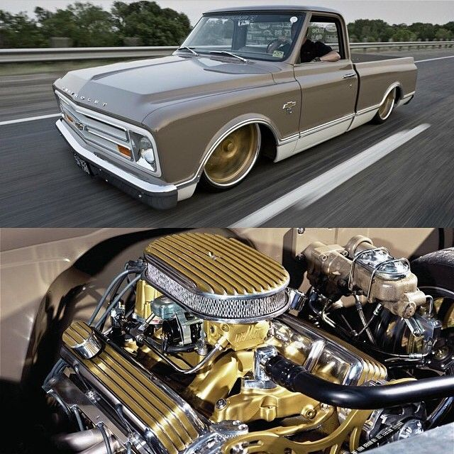 "Hot Wheels - Chevrolet C10 built by Mitch Henderson Designs and better known as ""Sexual Chocolate"" very cool truck, image via @classicsdaily"