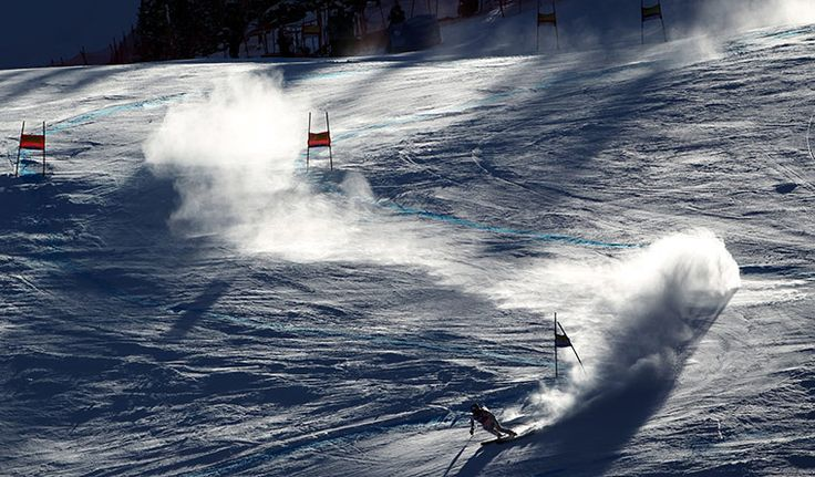 Lindsey Vonn shows everyone how it's done as she races down the course on her way to winning the women's World Cup super-G ski competition in Beaver CreekPhotograph: Alessandro Trovati/AP