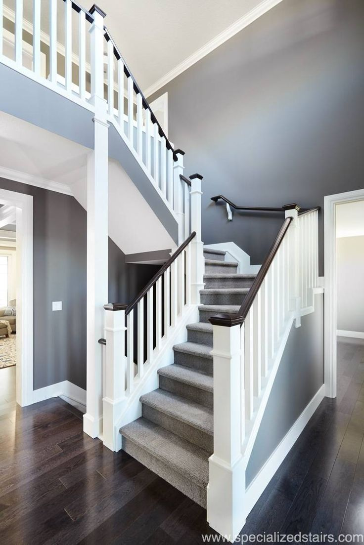 Southern Railing in 2020   White stairs, House stairs ...
