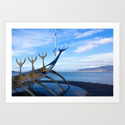 Viking Ship Art Print by Tom Kenny - $25.00