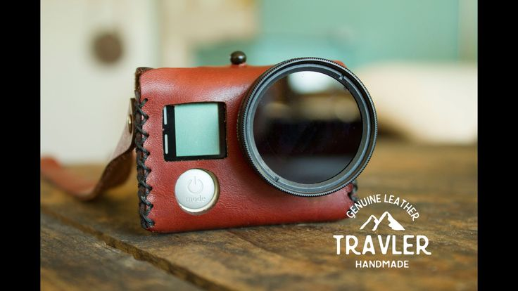 Vintage-inspired leather case designed to fit your GoPro®