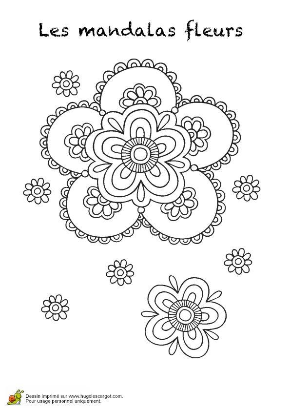 Coloriage les mandalas fleurs sur hugo 15 sur Hugolescargot.com - Hugolescargot.com