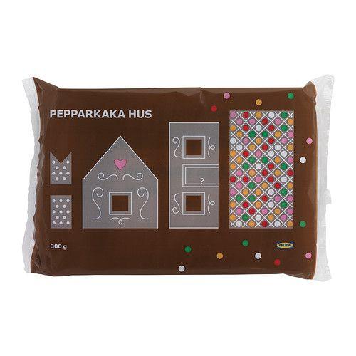 IKEA - PEPPARKAKA HUS, Pfefferkuchenhaus, Das in Schweden sehr beliebte Pfefferkuchenhaus wird (um Weihnachten) aus Teig hergestellt und mit Zuckerguss und Süssigkeiten verziert