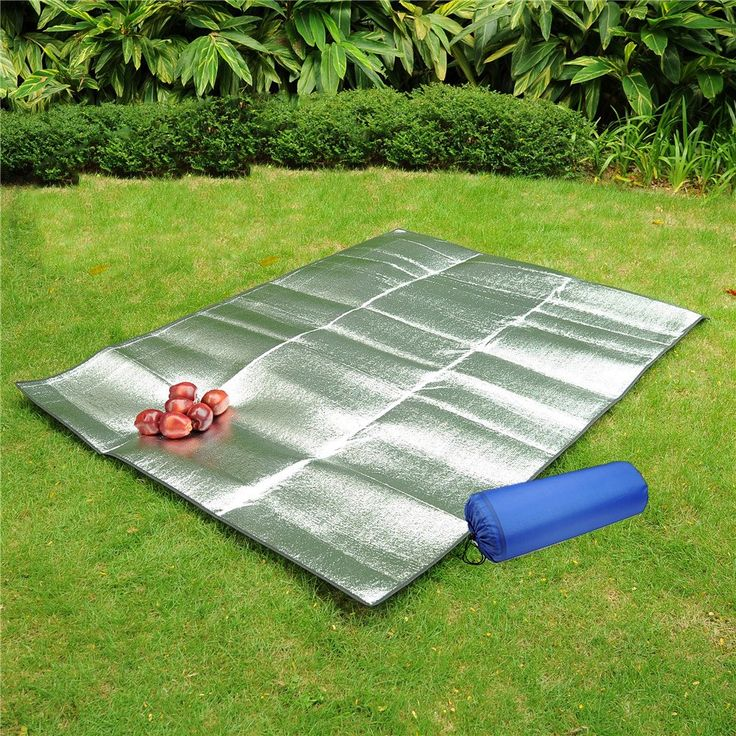 Aluminum Foil Mat Waterproof EVA Sleeping Mattress Insulated Tent Footprint Pad Moisture Proof Picnic Blanket Cushion. Widely use: moisture proof tent footprint pad, sleeping pad, picnic shelter, beach mat, camping, Yoga. 2 mm thick. approx. lightweight only 200g ( for 1-2 person). Double-sided, insulated reflective aluminum foil outer layer to help trap body heat, so you stay warm. Perfect folding, tent floor mattress for all seasons, even during extreme cold winter weather. Portable...