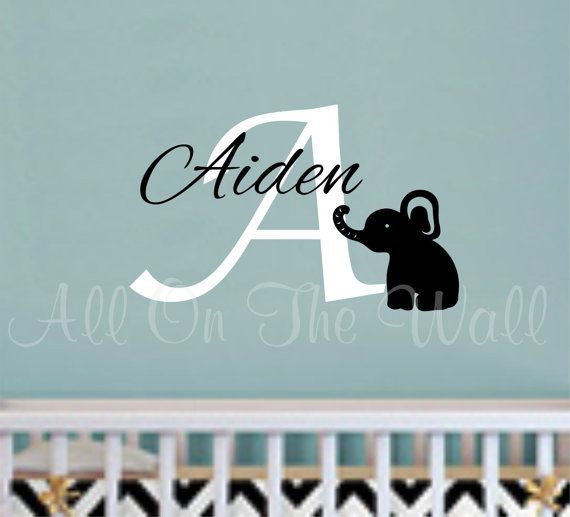 Best Boys OR Girls Images On Pinterest Name Wall Decals - Monogram vinyl wall decals for girls