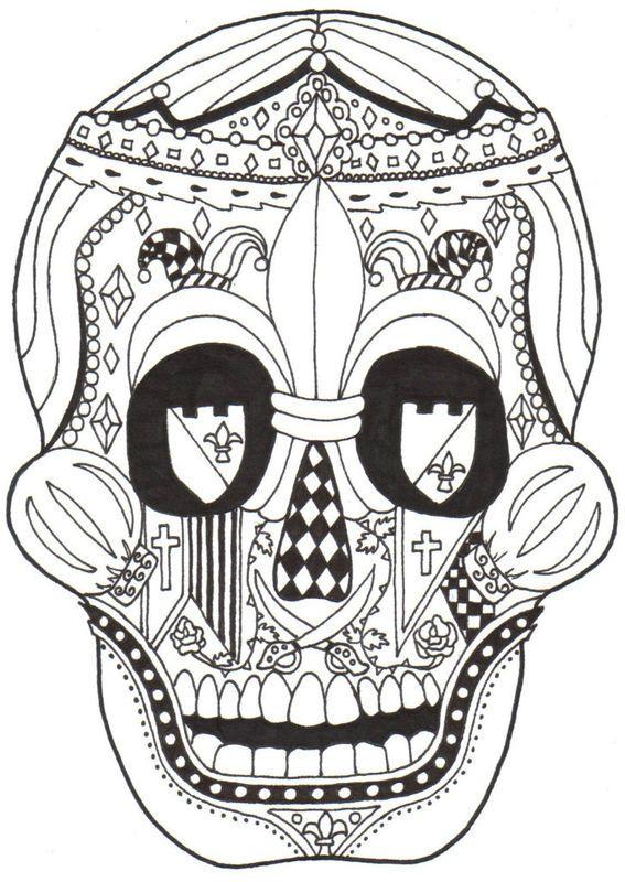 86 best COLORING : DIA DE LOS MUERTOS images on Pinterest | Coloring ...
