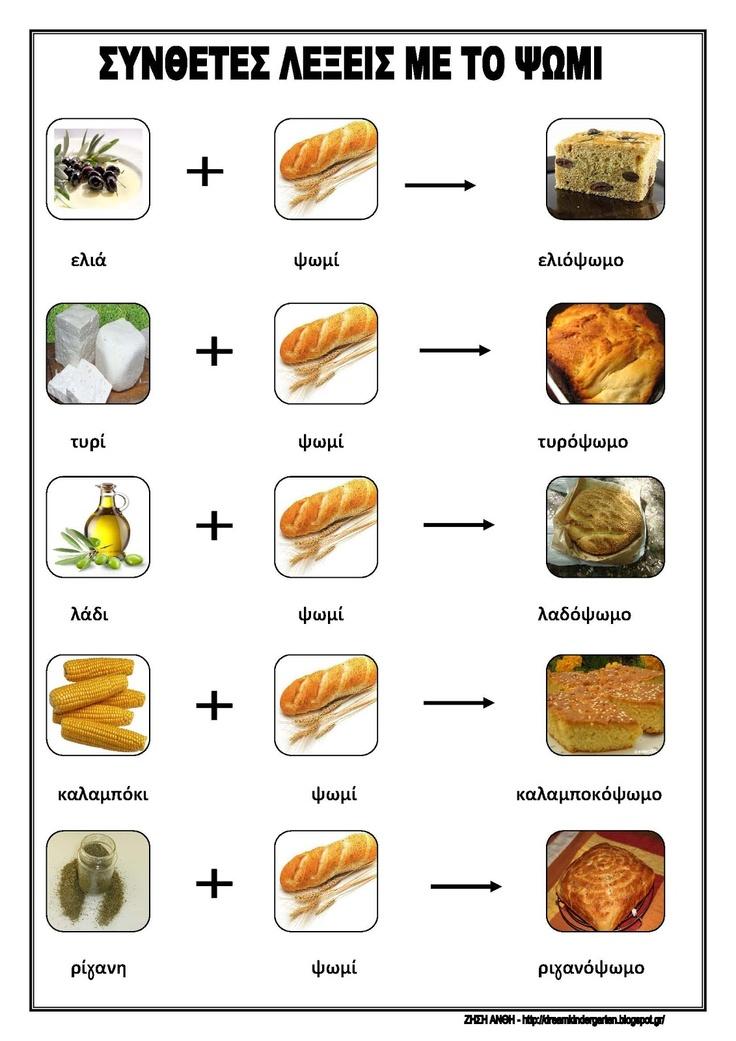 Το νέο νηπιαγωγείο που ονειρεύομαι : Σύνθετες λέξεις με το ψωμί
