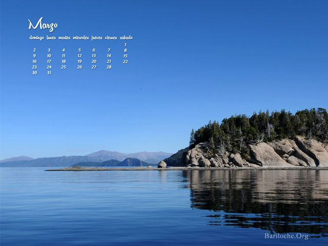 Después de un fin de semana largo con clima espectacular, arrancamos Marzo con imágenes increíbles de Bariloche y el calendario del mes para que uses de fondo de escritorio. Descarga en el enlace:  http://www.bariloche.org/paginas/2014/03/786/wallpaper_con_almanaque_marzo_2014/
