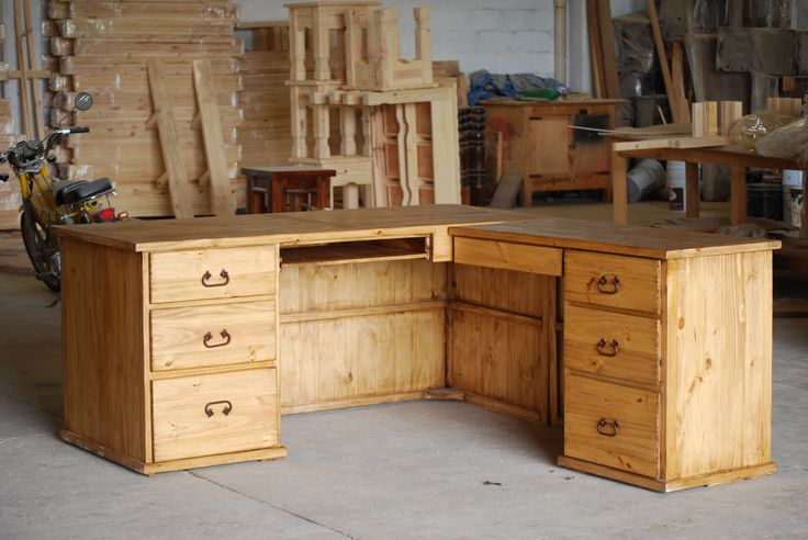 rustic desk desks and rustic on pinterest build rustic office desk