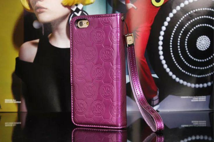 Michael Kors iPhone 7 Case Wallet MK Bling Vernis Cover Purple-01