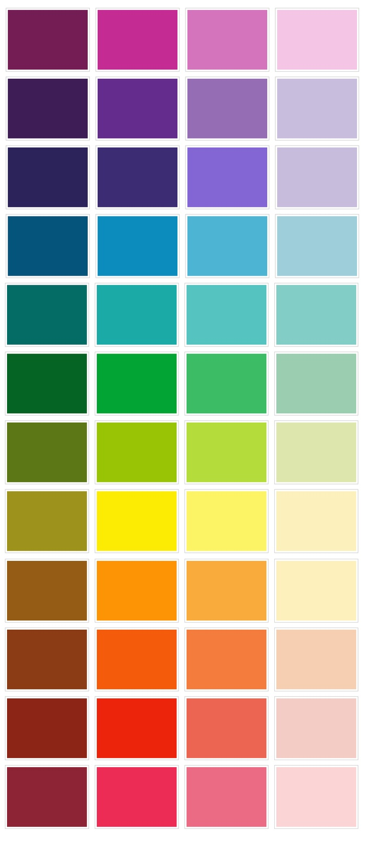 59 best Color - chart images on Pinterest | Color palettes, Color ...