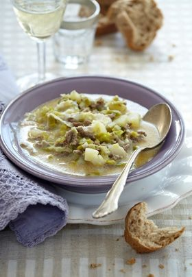 Pikant porresuppe