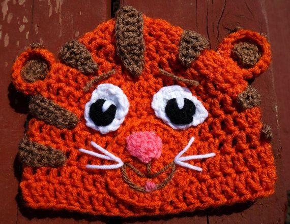Daniel Tiger's Neighborhood Crochet Hat by Karohook on Etsy: 1 Hats, Tiger S Neighborhood, Tiger Party, Crochet Hats, Daniel Tiger Halloween, Tigers, Daniel Tiger S, Hat Orders