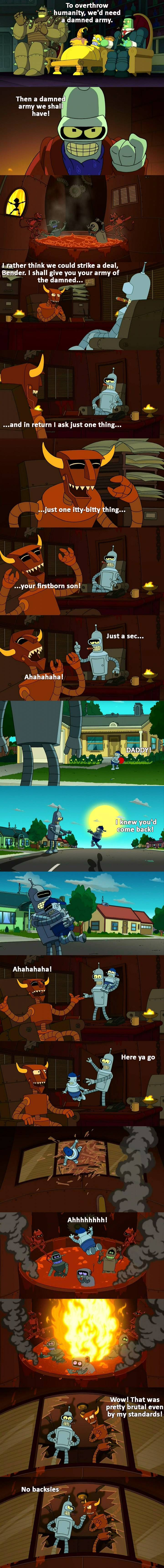 Futurama never held back on dark jokes