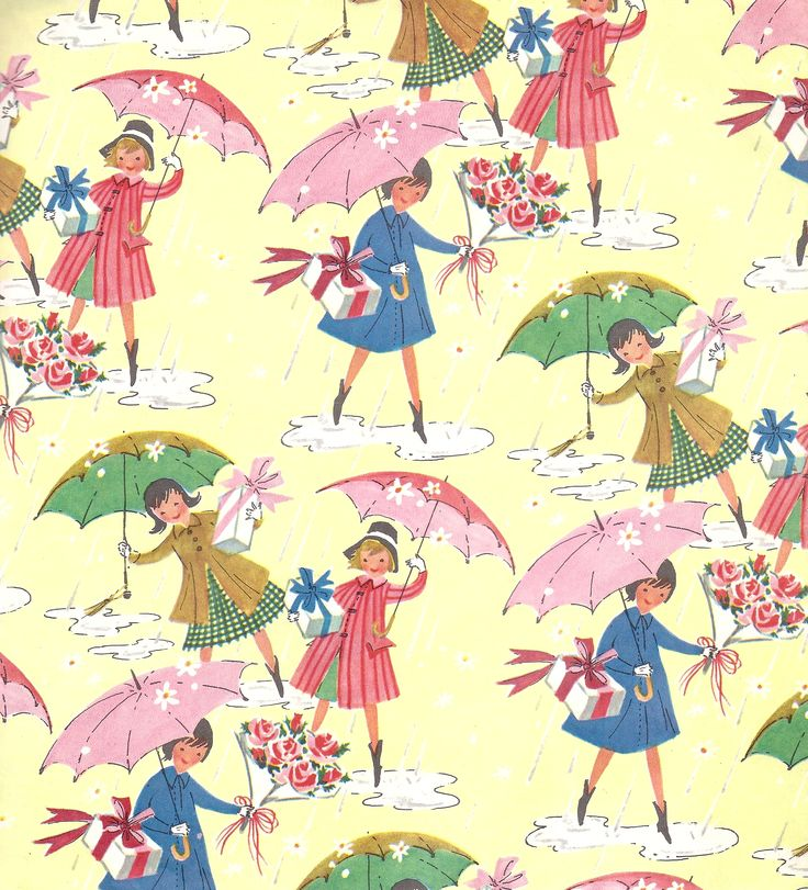 98 Best Vintage Wrapping Paper From My Own Colection Images On Pinterest