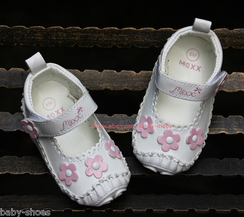 White Floral Baby Girl Sandals Newborn Infant Mary Jane ...