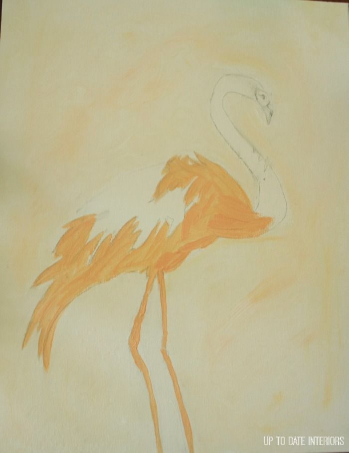Create Flamingo Art with this easy tutorial or print out the art for your own use.