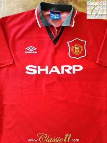 464da9a8343 ... Official Umbro Manchester United home football shirt from the 19941995  season.