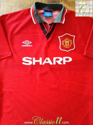 Official Umbro Manchester United home football shirt from the 1994/1995 season.