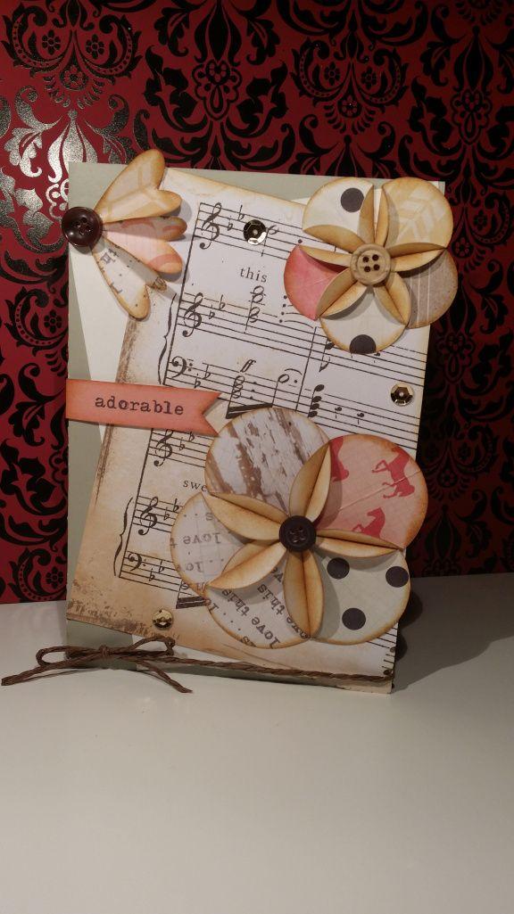 """""""mi refugio de papel"""" para el reto de 3flowers usar dies de forma original"""