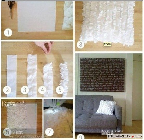 quick ruffled pillow DIY