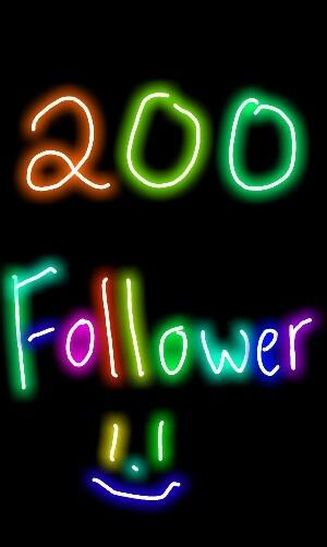 Guys! Follow spree at 200! Three morrrreeee
