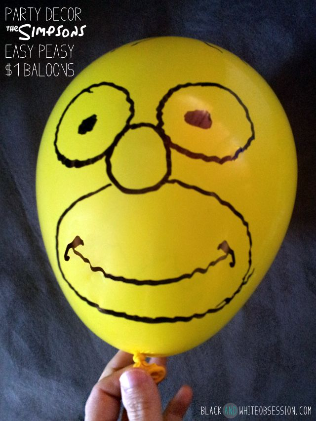 How to Throw a Last Minute Party, Part 4: Food and Decorations | $1 Homer Balloons.