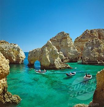 SuperStock - Portugal, The Algarve, Ponta Da Piedade, Lagos