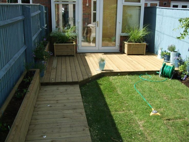 Image result for small garden decking ideas Garden ideas