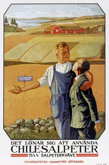 Propaganda Sueca sobre el Salitre chileno: «Vale la pena utilizar el nitrato de Chile. 15 1/2% de Nitrógeno nítrico» URBATORIVM: LA HISTORIA DEL SALITRE CHILENO EN LA ESTACIÓN METRO SANTA LUCÍA
