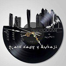 Golden Dubaj - vinyl clocks - 6566700_
