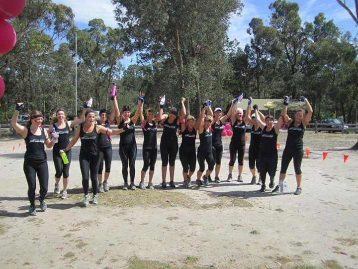 The girls from Fernwood Narre Warren competing for the Tough Fox Cup 2013.