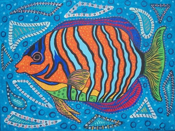 Angel Fish 12x16 Archival print from my original by ClayFish, $35.00