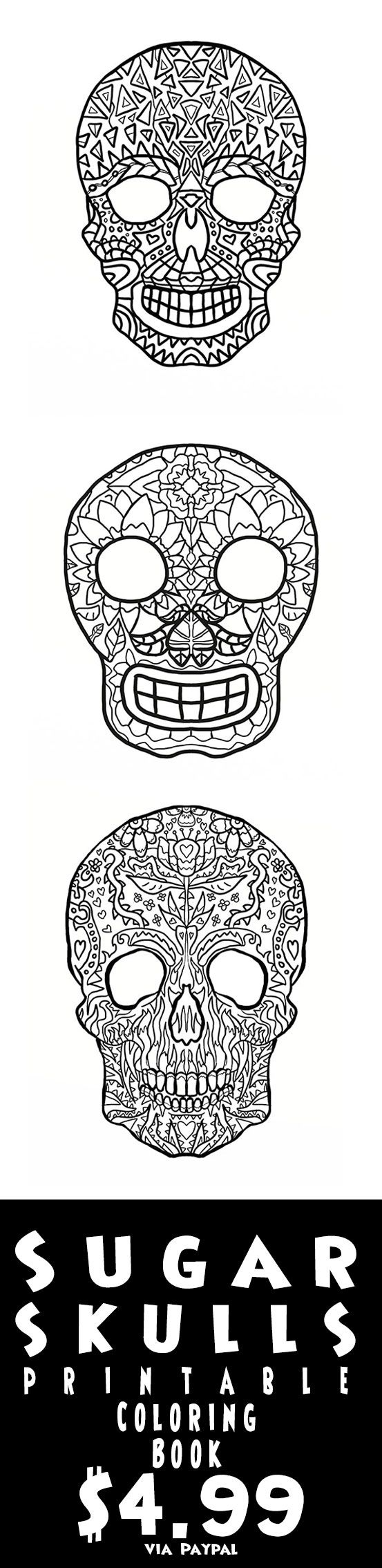227 best sugar skulls day of the dead coloring pages for adults