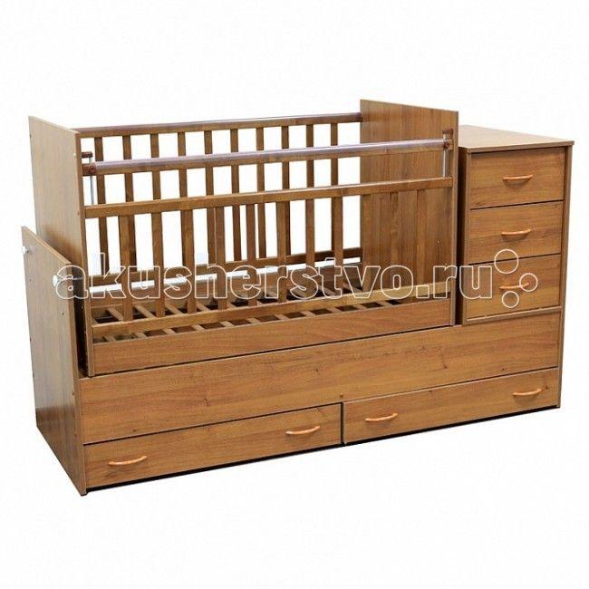Кроватка-трансформер Топотушки Алиса поперечный маятник  Кроватка-трансформер Топотушки Алиса поперечный маятник  Удобная и функциональная детская кроватка-трансформер «Алиса» поперечный маятник предназначена для новорожденных детей и используется до 7-10 лет. Высокое качество отделки, сохраняющее природный рисунок дерева. Для окраски применяются лаки, не содержащие вредных для здоровья ребенка веществ.   Особенности: Кровать изготовлена из натуральной древесины – массив березы (обеспечивает…