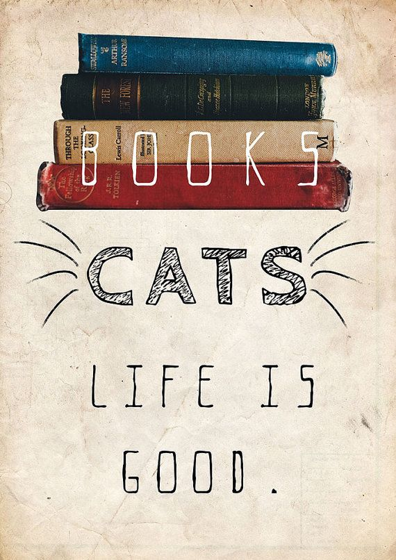 Edward Gorey quote - Books, cats life is good.