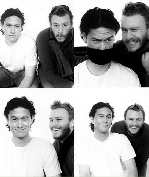 Joseph Gordon-Levitt and Heath Ledger: