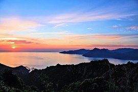 Sonne, Sonnenuntergang, Meer, Abendstimmung, Korsika