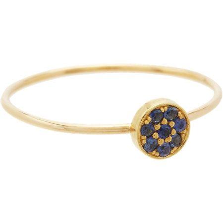 Jennifer Meyer Sapphire Circle Ring at Barneys.com