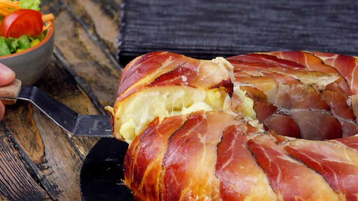 Kartoffelgratin selber machen mit diesem Rezept für saftigen Kartoffel Auflauf mit Bacon