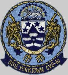 cva cvs 10 uss yorktown insignia crest patch badge aircraft carrier essex class us navy