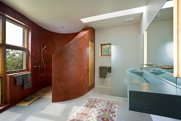 Curved Wall For Walk In Shower My Home Pinterest
