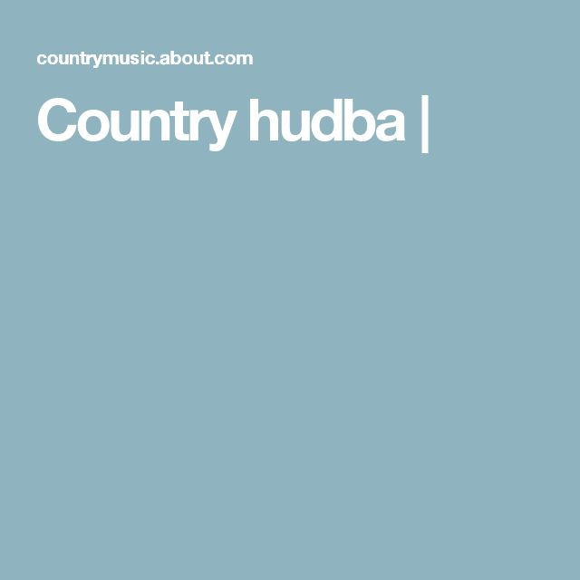 Country hudba |