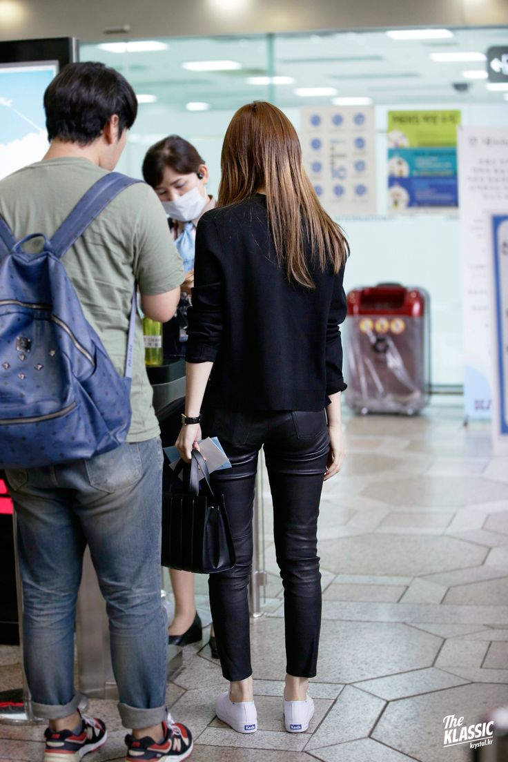 Krystal's airport fashion