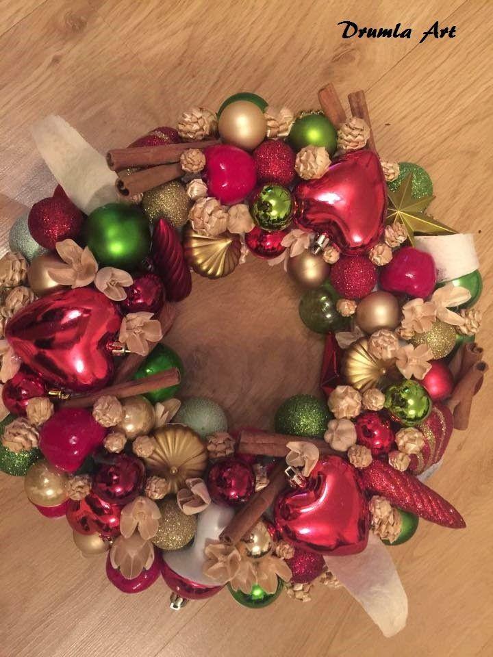 tradycyjny wianek bożonarodzeniowy drumlaart.blogspot.com